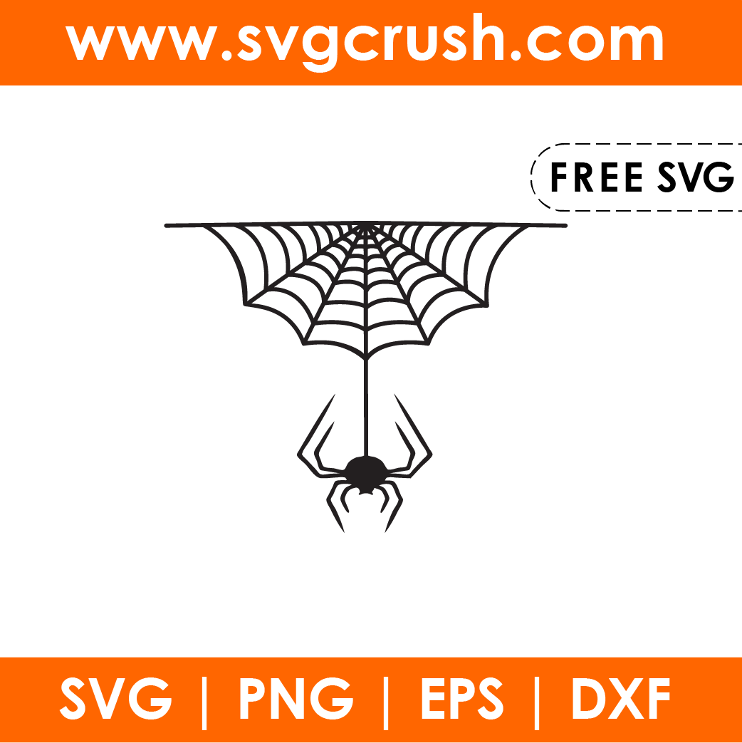 free spider-in-web-001 svg