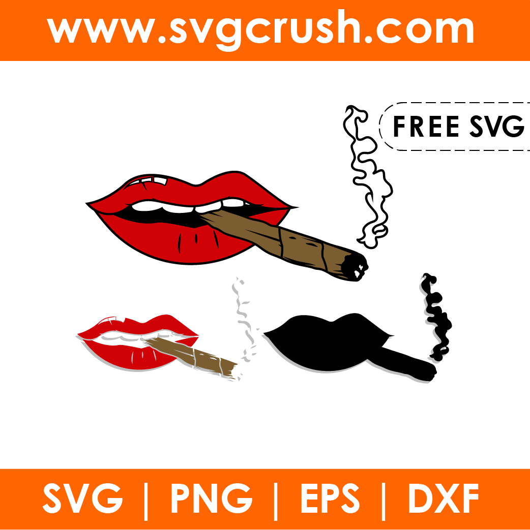 free smoking-lips-002 svg